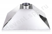 Вытяжной зонт нержавеющая сталь 700x1200