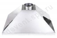 Зонт вытяжной нержавеющая сталь 600x1400