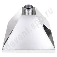 Зонт вытяжной нержавеющая сталь 900x900